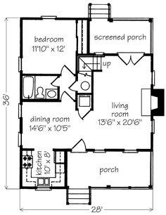 Tiny cabin floor plan