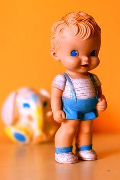 Adorable vintage squeaker toy