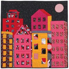 Bright Lights, Big City #quilt #free #pattern
