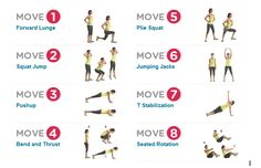 Do each move for 60 seconds. Repeat 3x. work, beach bodi, health, diet foodfit, move