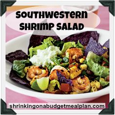 Southwest Shrimp Salad - Insanely Easy, Lick the Bowl Delicious, and only 6 PointsPlus.  My focus group tested this recipe for my Shrinking On a Budget Meal Plan and it got a 5 Star thumbs up.