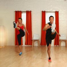 10 minute kickboxing workout, as promised you'll be dripping in sweat before the 10 minutes are up.  Great workout for runners to work on core strengthening and stability while getting cardio in at the same time!