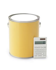 Paint Calculator: Multiply the height of each wall by it's width = wall area. One gallon for every 450 sq ft.
