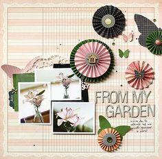 3 photos + ledger paper + flowers