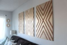 Oversized DIY Wall Art Made From Plywood