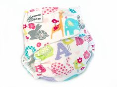 Fitted Cloth Diaper OS Flannel  Alphabet by greenchildcreations, $10.00