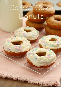 Carrot Cake Donuts from www.a-kitchen-addiction.com