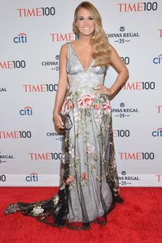 NEW YORK, NY - APRIL 29: Honoree Carrie Underwood attends the TIME 100 Gala, TIME's 100 most influential people in the world, at Jazz at Lincoln Center on April 29, 2014 in New York City. (Photo by Ben Gabbe/Getty Images for TIME)