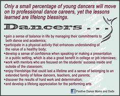 The third is soooooo true!!!  I always include my dance teacher for training me to be able to speak and do in front of an audience!!