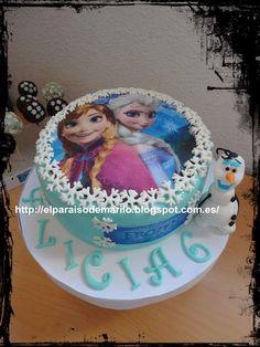 Anna & Elsa Frozen Cake