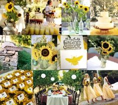 Sunflower Wedding Decorating Ideas