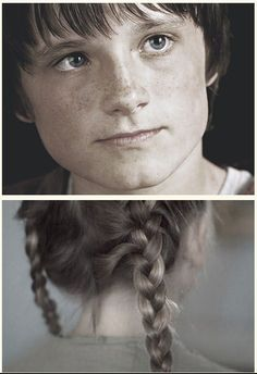 """""""I remember the first time I saw you. Your hair was in two braids instead of one. I remember when you sang in the music assembly and the teacher said """"who knows the valley song"""" and your hand shot straight up. After that, I watched you going home everyday. Everyday.""""  -Peeta"""