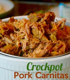 Yes please!  Pork Carnitas Crockpot Recipe!!  Super easy and oh so yummy!