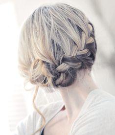 French braid up-do tutorial
