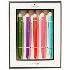 Pen Set 5pk by @kate spade new york #KateSpadeNY #IndigoPaper