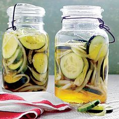 Icebox Cucumber Pickles | Make these classic pickles from Fun, Food & Flowers the night before a picnic or barbecue for a sweet-tart side. | SouthernLiving.com