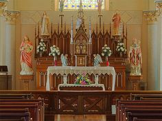 Saint Martin Roman Catholic Church, in Starkenberg, Missouri - altar.jpg by msabeln, via Flickr