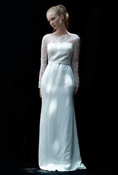 A #wedding dress with sleeves from Love, Yu, Fall 2012