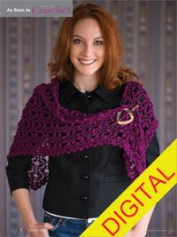 Sonoma Shawl Digital Crochet Pattern - from the Fall 2014 Issue of Love of Crochet magazine