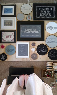 life is beautiful - framed modern embroidery. $315.00, via Etsy.  LOVE this collection.  It's old school but looks really contemporary at the same time.  I definitely need to advance my needlework skills.