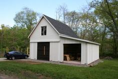 Fine Homebuilding editor Patrick McCombe built this custom version of the Maple Barn in Connecticut as his backyard workshop. Click through to see how he did it and then visit BarnsBarnsBarns.com to   purchase the same plans that he used.