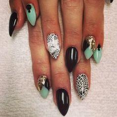 #leopardprint #nails #nailart #glam #mani #manicure