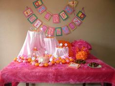 Hot pink and orange birthday party