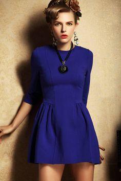 mini dress, length sleev, blue three, quarter length, dresses