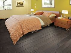 """Engineered Hardwood in style """"Huron"""" color Mackinac - HGTV HOME Flooring by Shaw."""