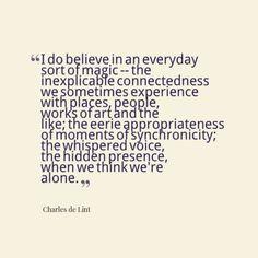 quotes magic, charles de lint quotes, charl de, inspir, magic quotes