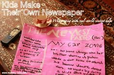 kids newspaper creative writing ideas - Love this idea for letting kids create their own newspapers.