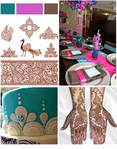 henna, peacock indian, color, indian themed cake, peacock theme, mehndi peacock, indian inspired centerpiece, peacock inspiration website
