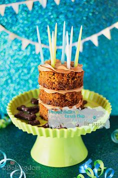 Peanut Butter Carob Chip Carrot Cake for Puppies @Vanessa Pacheco Make this for Chloe!