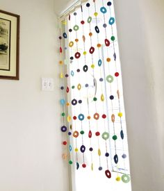 Crochet Window Treatment   via this Japanese website.  This would look super sweet in my study/writing space.