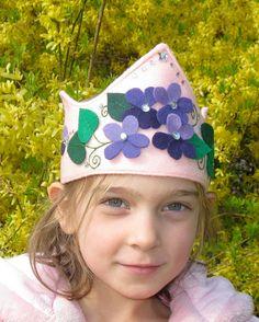 flower crown for girls    Princess Violet Felt Crown. $32.00, via Etsy.