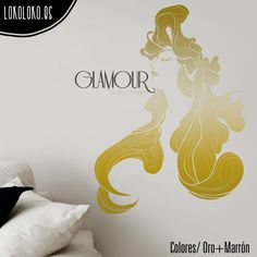 #Vinilodecorativo con un elegante diseño femenino / #Wallsticker with elegant and feminine design