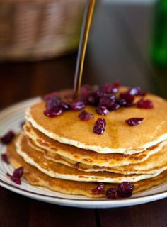 Cranberry Cornmeal Pancakes