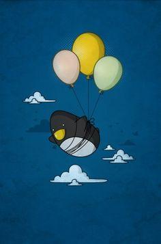 if u want.. u can... penguin art, stuff, nabhan, fli penguin, dream, inspir, penguins, illustr, thing