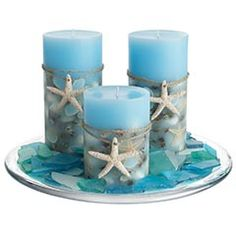 Scented Seashell Candles at Pier 1. I think I need to go shopping.