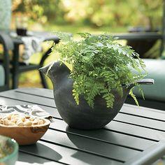 Metal Bird Planter | Crate and Barrel bird planter, nice planter, crate, barrel, metal bird