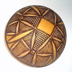 decorated calabash gourd