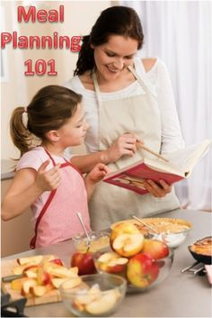 Family Meal Planning 101 - take a little time  to plan meals and shopping lists every week and avoid the chaos of mealtime and the overbuying of groceries!