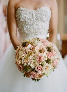This blush pink bouquet: http://www.stylemepretty.com/virginia-weddings/charlottesville/2014/03/31/blush-pink-wedding-at-keswick-hall/ | Photography: Jen Fariello - http://www.jenfariello.com/