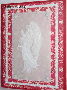 Angel on velum by LoisJP - Cards and Paper Crafts at Splitcoaststampers