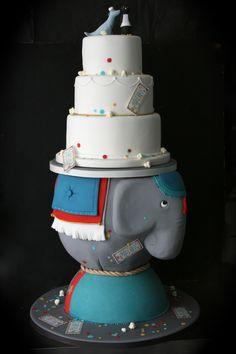 Circus themed wedding cake for Melissa & Charles, cake by the Sugarplum Cake Shop, Paris France