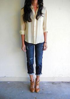 oversized blouse.