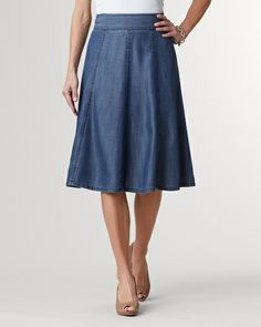Tencel® flare skirt | Coldwater Creek