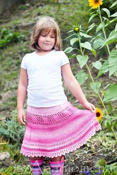 Breezy Summer Skirt, ages 6m-10 years #knitting #cotton #craft #craftsy #knittingclub