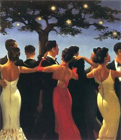 The Picnic Party - Jack Vettriano - WikiPaintings.org