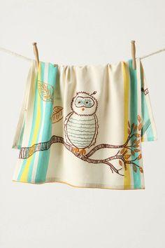 Owl dishtowels for the kitchen. More owl decor @BrightNest Blog